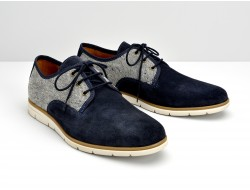 SHAFT DISTRICT - SUEDE/PICASSO - AZUL/GRIS
