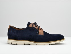 SHAFT CLUB - SUEDE/CICLON - AZUL/CAMEL