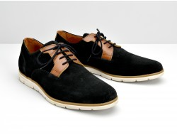 SHAFT CLUB - SUEDE/CICLON - BLACK/CAMEL
