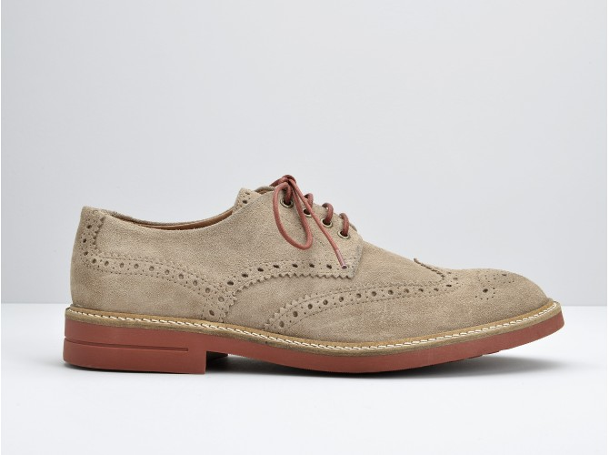 CREW PERFO - OILY SUEDE - CHAMPAGNE