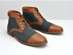 BLIND DOUGLAS BOOTS - BUFFALO/LONDON - ARDOISE/COGNAC