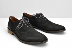 DIRTYDANDY RICHELIEU - NUBUCK/CABRA - BLACK/BLACK