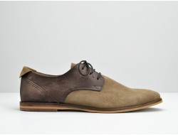 SWAN DERBY - SUEDE/SOFT WASH - TAUPE/TD MORO