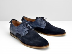 SWAN DERBY - SUEDE/SOFT WASH - AZUL/DENIM