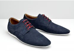 FIDJI NEW DERBY - NUBUCK - ROYALBLUE SOLE WHITE