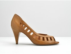 ODISSEY OPEN TOE - SAUVAGE - TABAC
