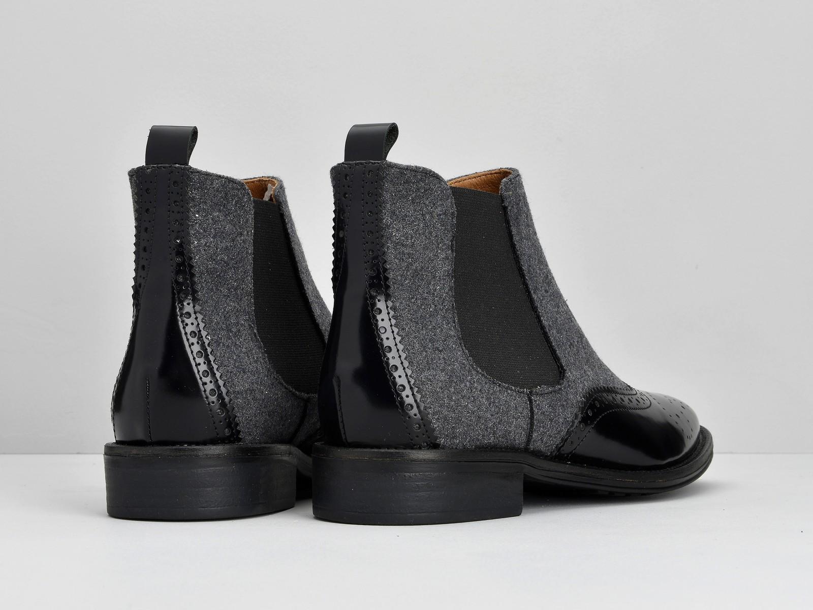 schmoove.fr Newton Jodpur - Box / Flanel - Black / Grey