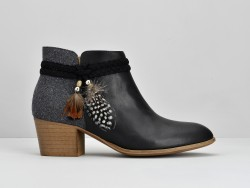 Secret Boots - Lotus / Flanel - Black / Grey