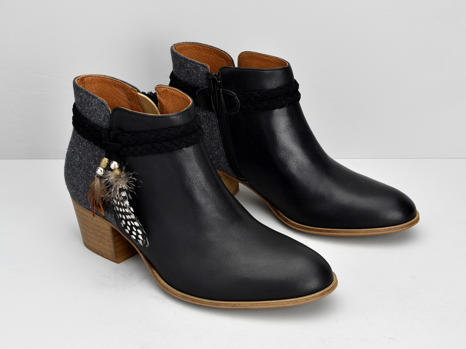 schmoove.fr Secret Boots - Lotus / Flanel - Black / Grey