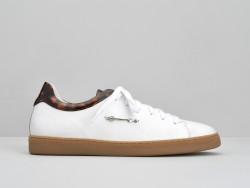 Sally Sneaker - Nappa / Sun - Blanc / Tan