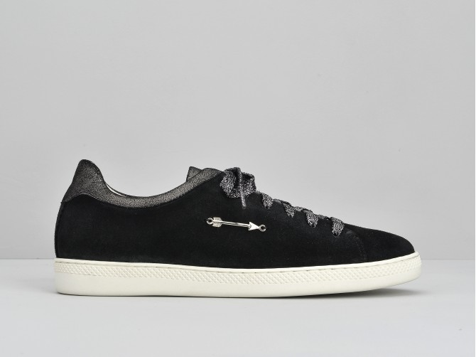Sally Sneaker - Suede / Douro - Black