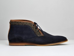 SWAN EDGE - SUEDE/M.CHIEVOT - AZUL/MARRON