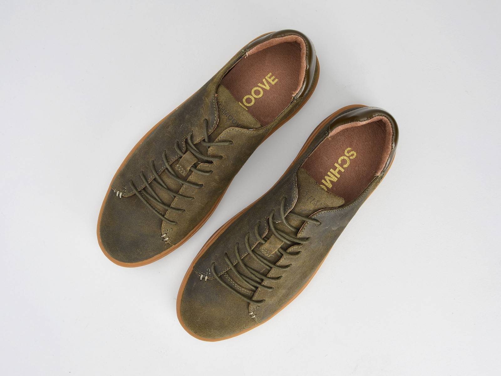 schmoove.fr VICE SNEAKER - OILY SUEDE - ARMY SOLE GUM
