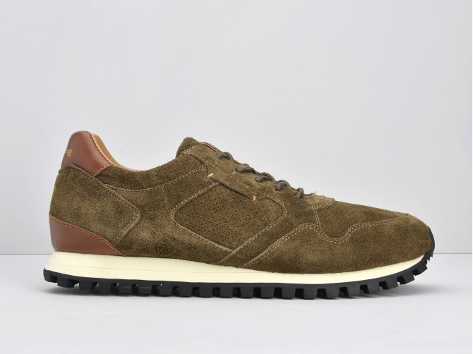 STAT RUN - SUEDE/PUNCH - ARMY/ARMY
