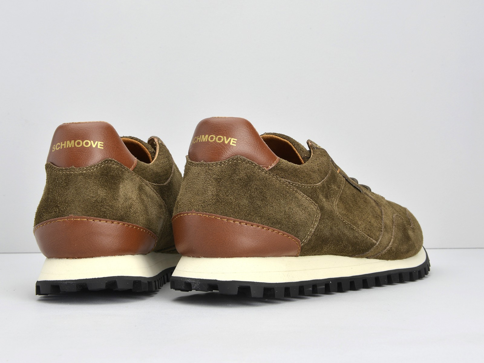 schmoove.fr STAT RUN - SUEDE/PUNCH - ARMY/ARMY
