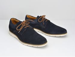 Shaft Derby - Suede - Navy
