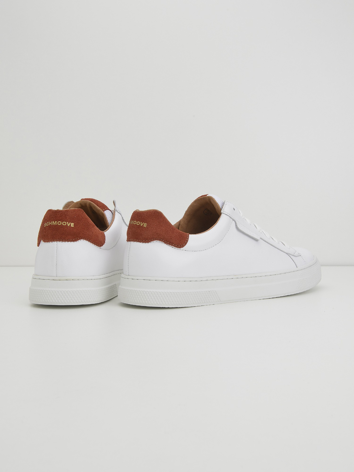 schmoove.fr Spark Clay - Nappa/Suede - White/Rust