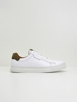 Spark Clay - Nappa/Suede - White/Stone