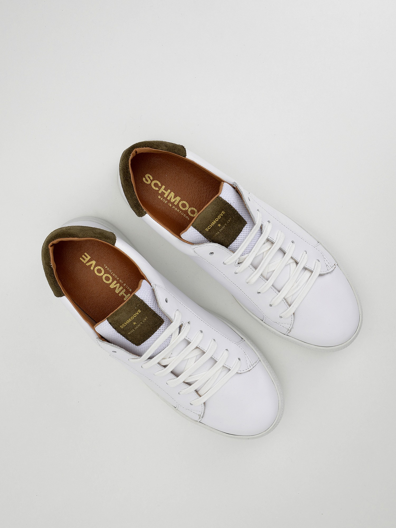 schmoove.fr Spark Clay - Nappa/Suede - White/Stone