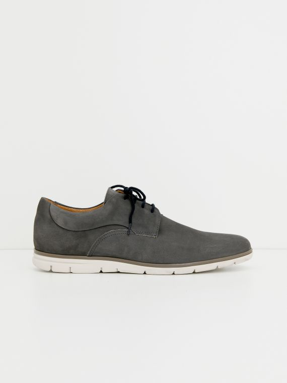 Shaft Derby - Nubuck - Cinza