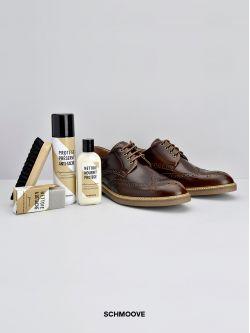 Kit entretien chaussures en cuir et daim