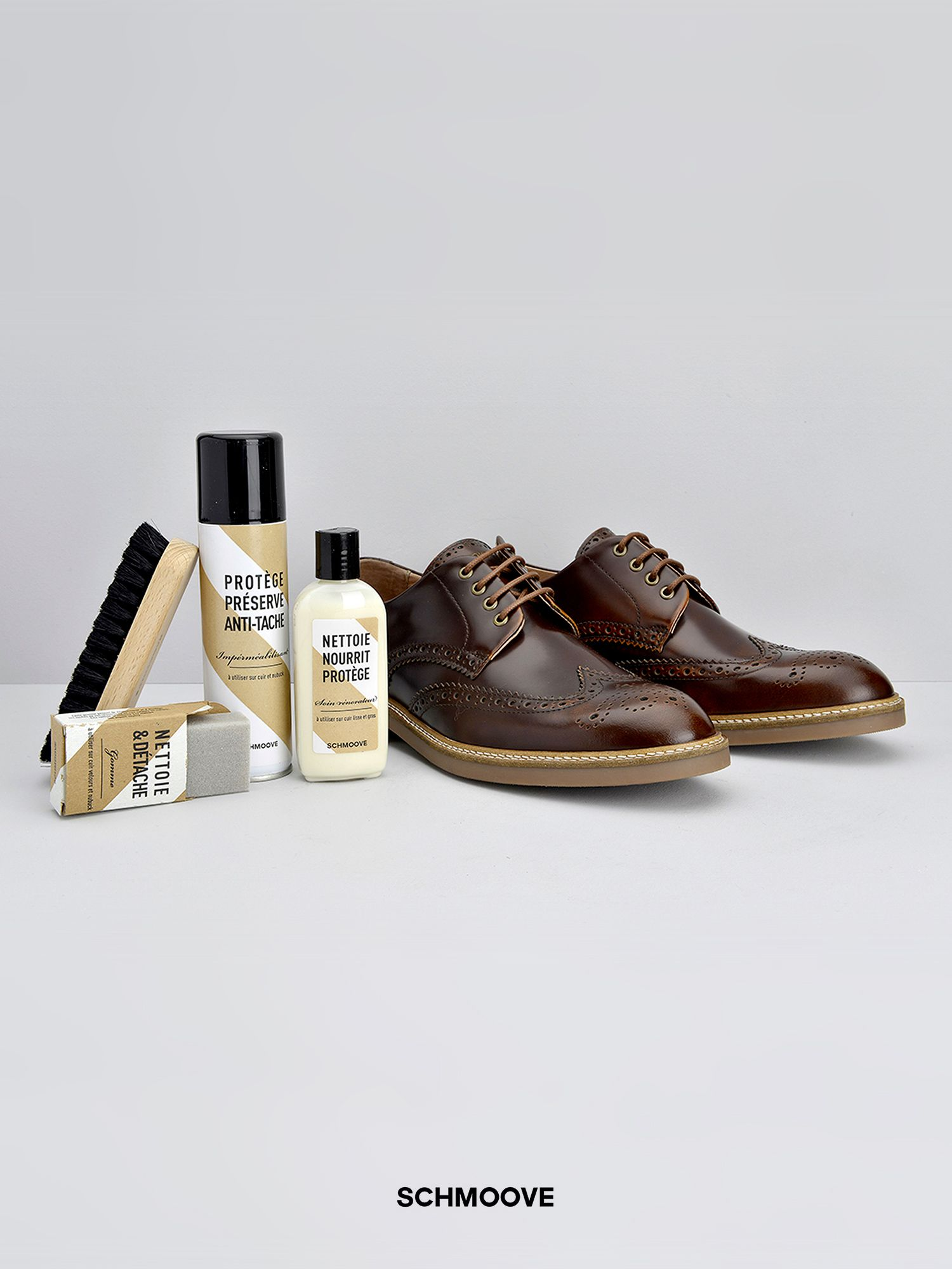 kit de produits d 39 entretien pour chaussures en cuir schmoove. Black Bedroom Furniture Sets. Home Design Ideas