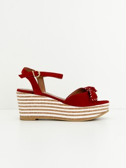 Ariel Ankle - Kid Suede - Rosso