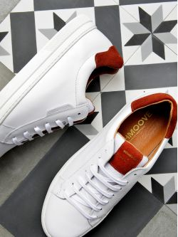 Spark Clay - Nappa/Suede - White/Rust
