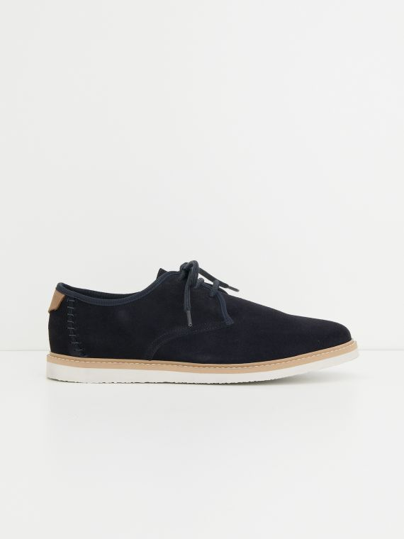 Fly Derby - Suede - Marino