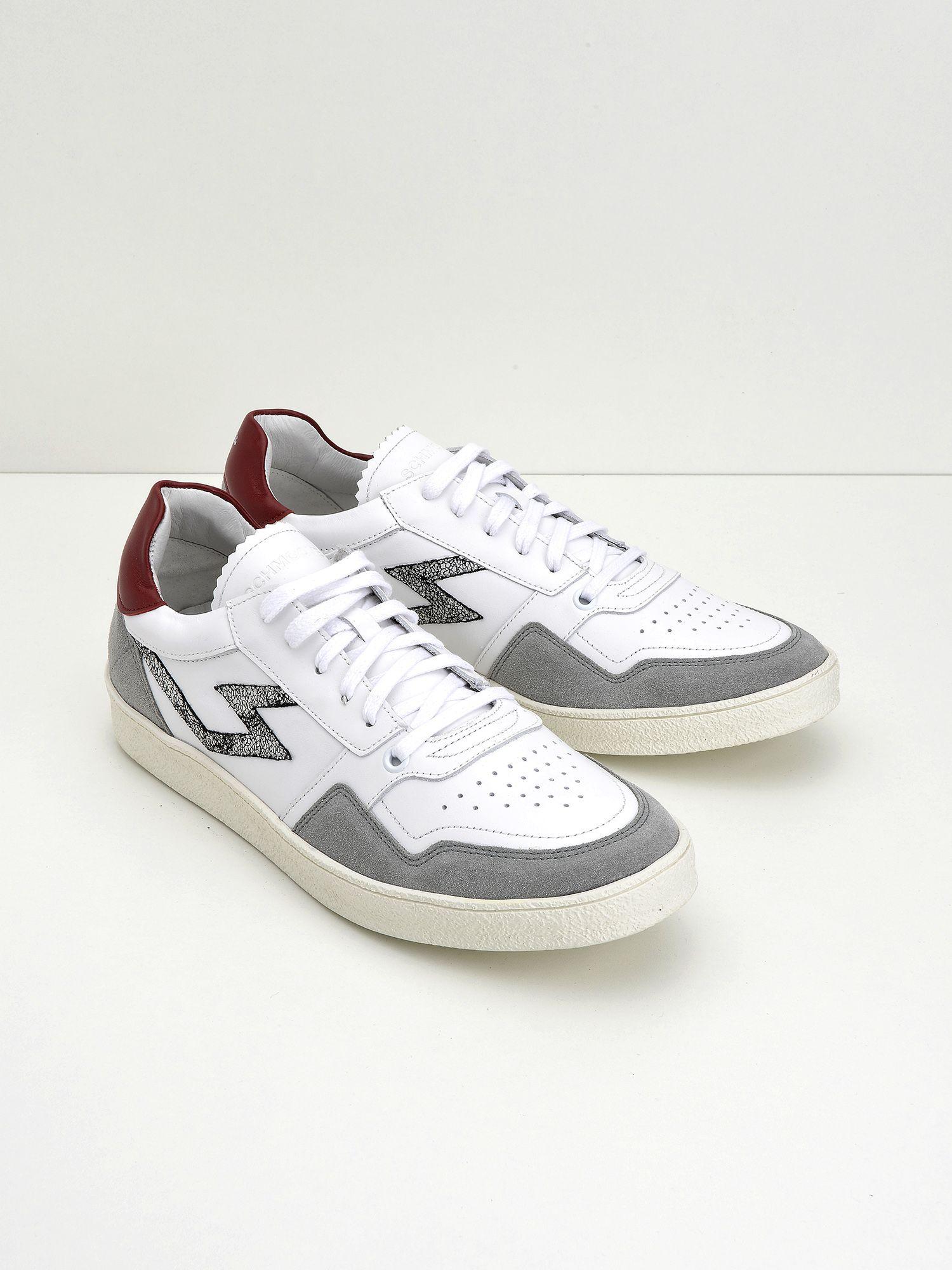 schmoove.fr Squash Tennis M - Suede/Nappa - Cimento/White