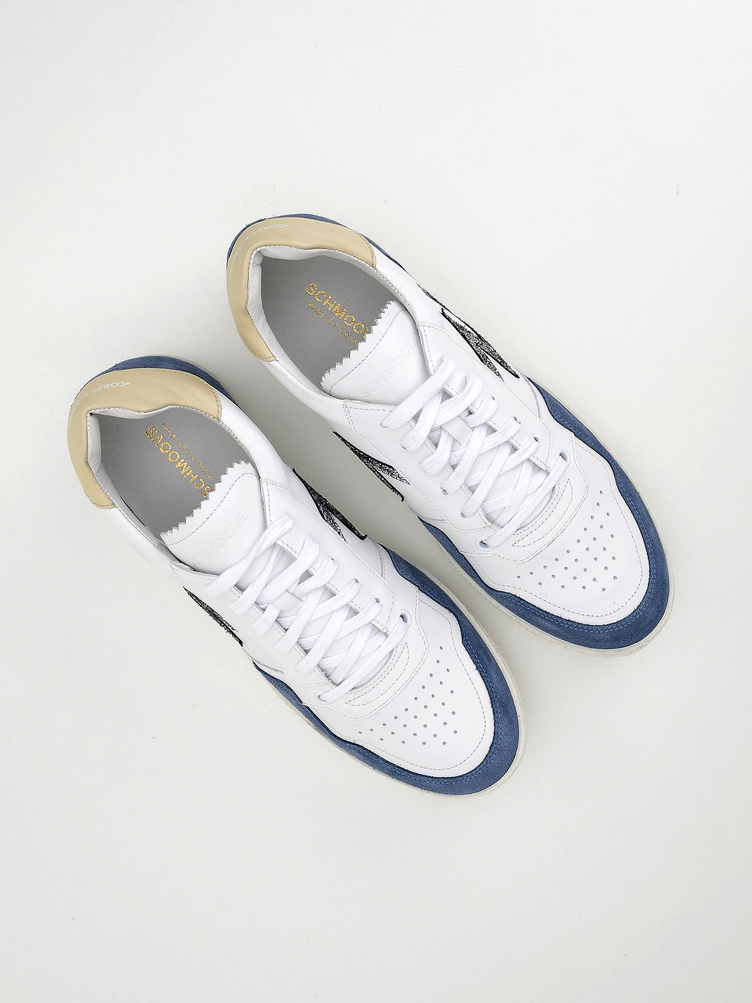 schmoove.fr Squash Tennis M - Suede/Nappa - Jeans/White