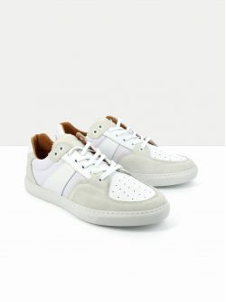 Cup Tennis - Suede/Nappa - Gelo/White