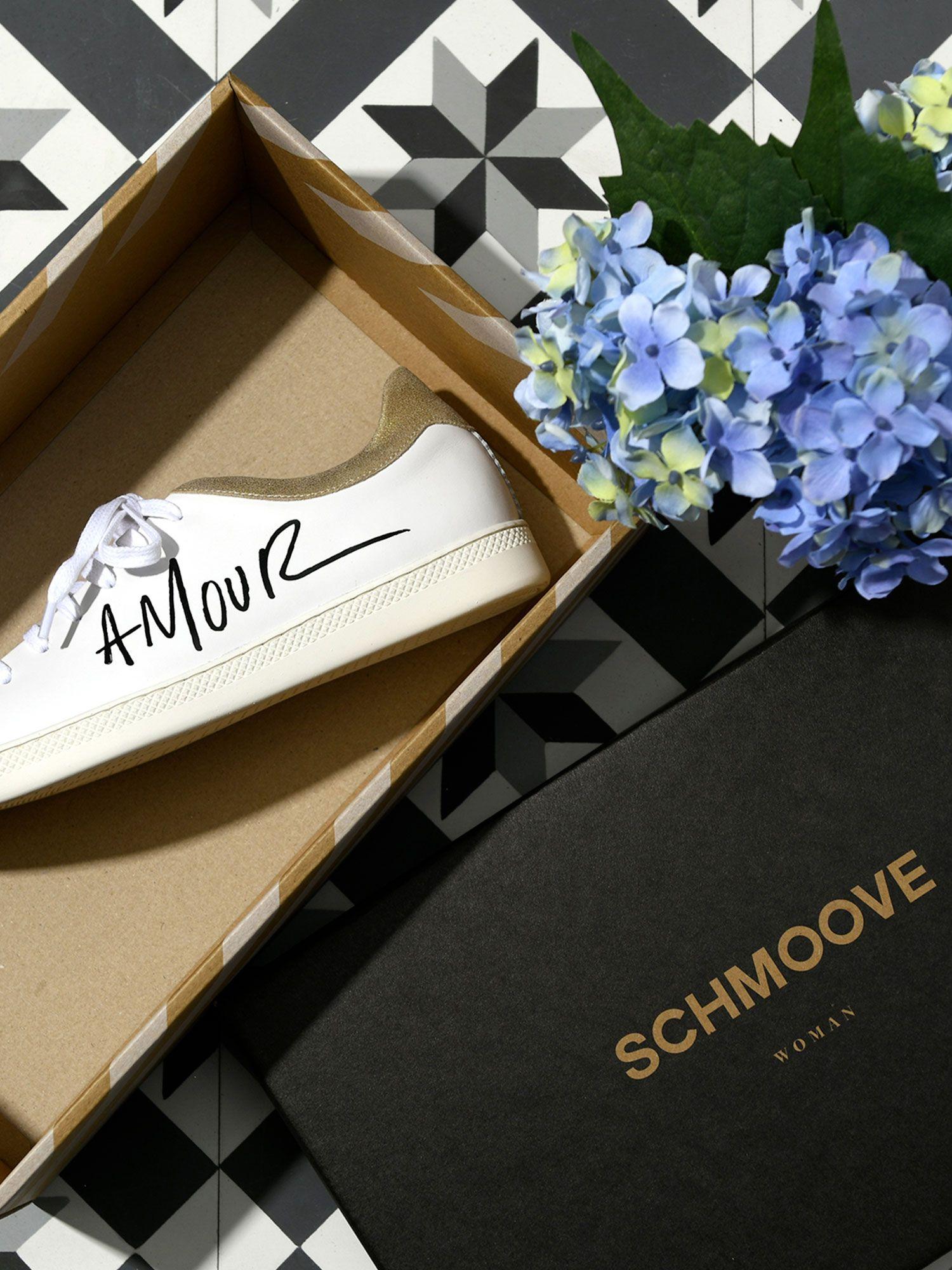 schmoove.fr Sally Love - Nappa/Douro - Blanc/Oro