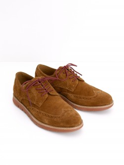 Echo Brogue - Suede - Cognac