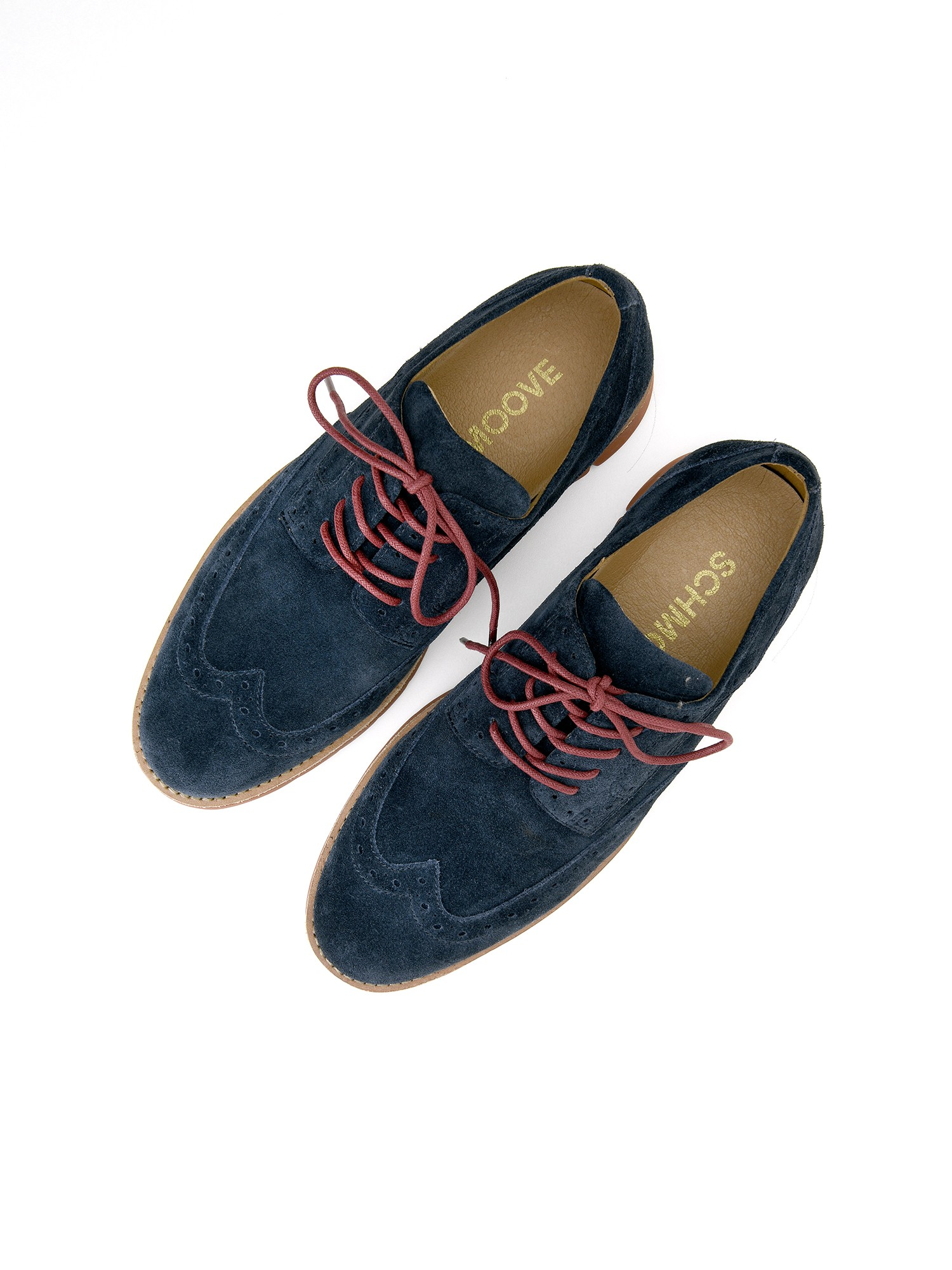 schmoove.fr ECHO BROGUE - SUEDE - NAVY