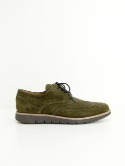 ECHO BROGUE - SUEDE - ARMY
