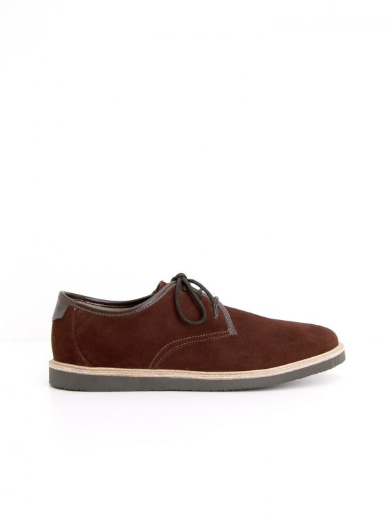 FLY DERBY - SUEDE/FLAG - ROUILLE/TD MORO