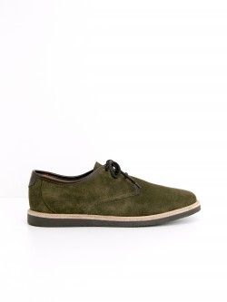 FLY DERBY - SUEDE/FLAG - STONE/TD MORO