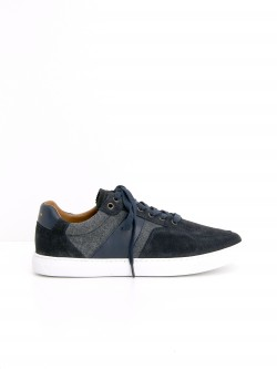 CUP TENNIS - SUEDE/FLANNEL - NAVY/GREY
