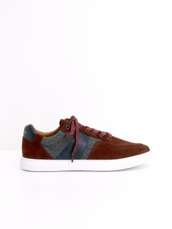 CUP TENNIS - SUEDE/FLANNEL - ROUILLE/GREY