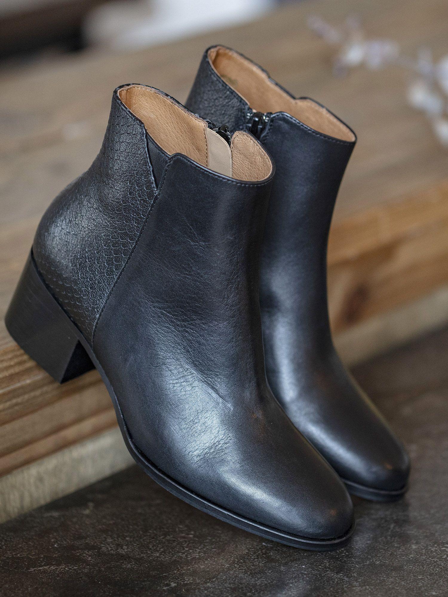 schmoove.fr Santana Boots - Lotus/Bora - Black/Black
