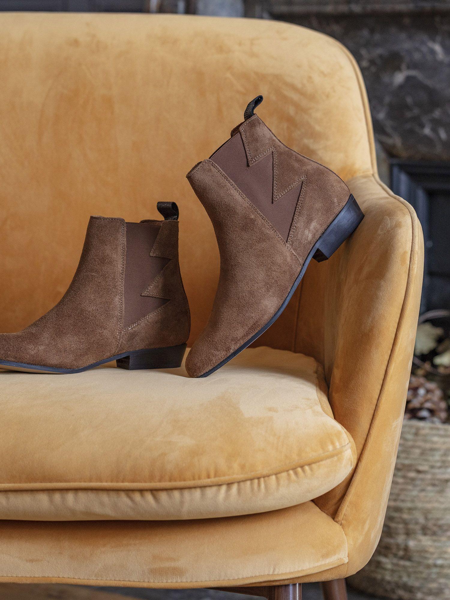 schmoove.fr Peckham Boots - Suede Vintage - Cognac