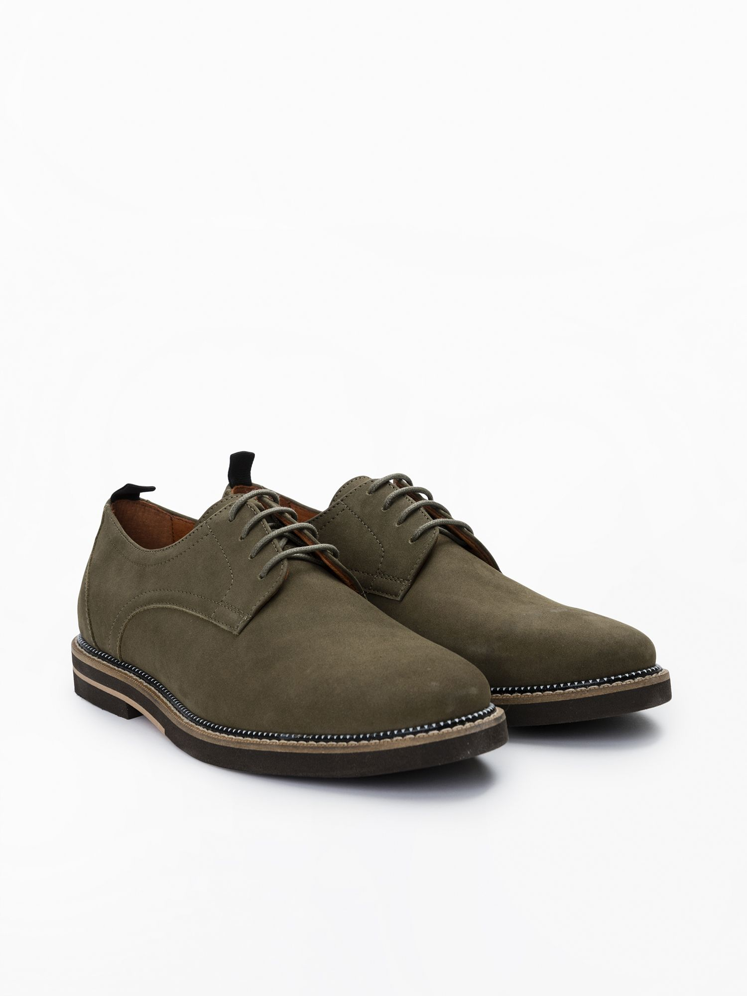 schmoove.fr Solal Derby - Nubuck - Olive