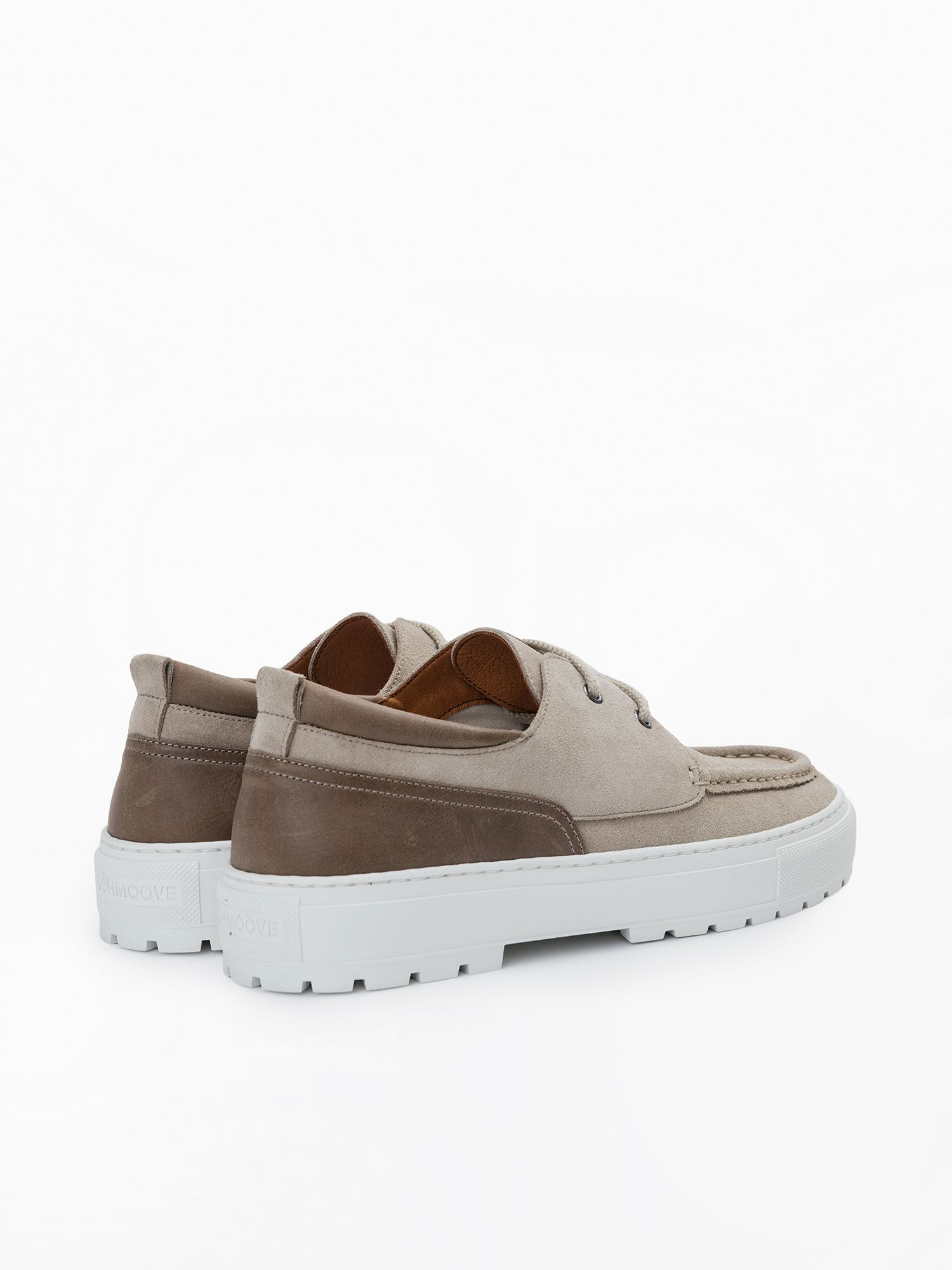 schmoove.fr Laker Boat - Suede - Beige/Taupe