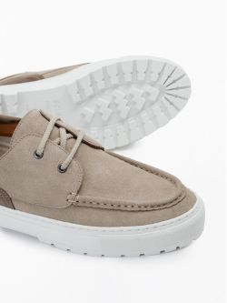 Laker Boat - Suede - Beige/Taupe