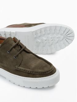 Laker Boat - Suede - Olive/D Brown