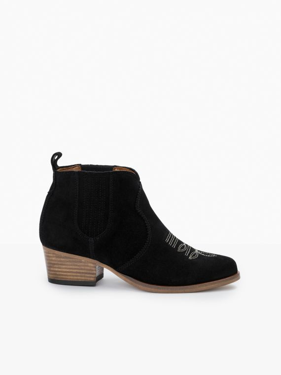 Polly Boots - Suede - Black