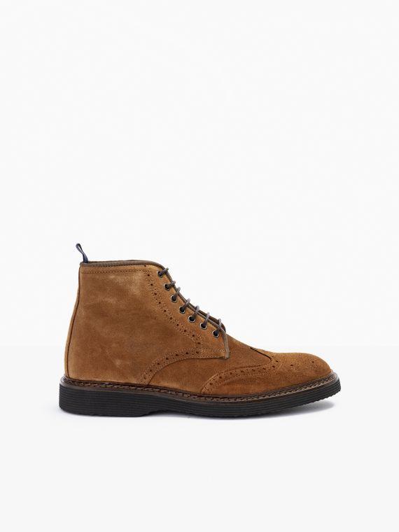 Mora Boots - Suede - Cognac