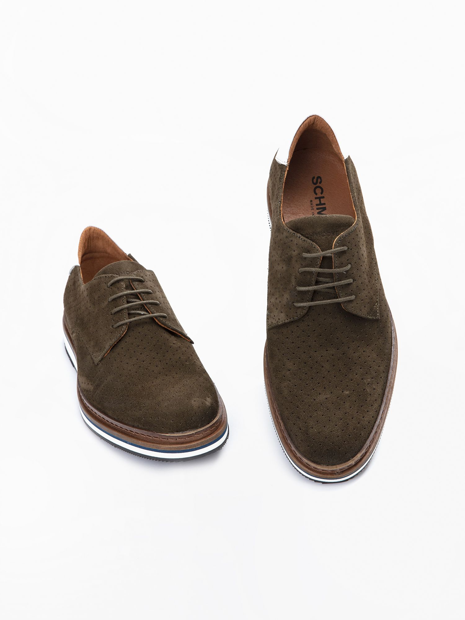 schmoove.fr Punch Derby - Punch Suede - Olive