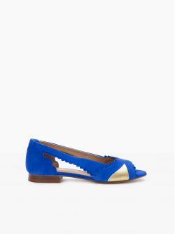 Retro Pump - Kid Suede - Blue Lady